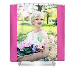 Vintage Val Magnolias Shower Curtain
