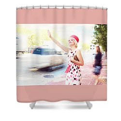 Vintage Val The Coral Hat Shower Curtain