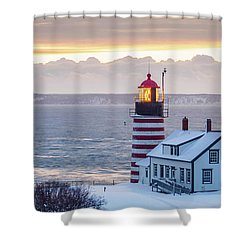Shower Curtain featuring the photograph West Quoddy Lighthouse by Trace Kittrell