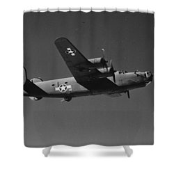 Wwii Us Aircraft In Flight Shower Curtain