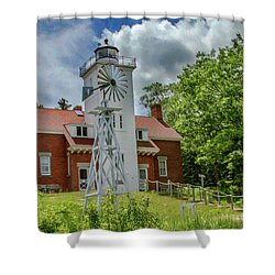 Shower Curtain featuring the photograph 40 Mile Point Lighthouse by Bill Gallagher