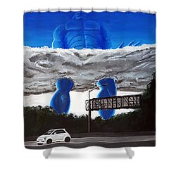405 N. At Roscoe Shower Curtain by Chris Benice