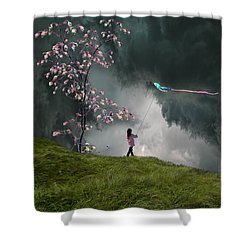 4166 Shower Curtain by Peter Holme III