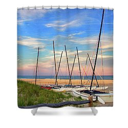 41st Street Beach In Ocean City Nj Shower Curtain