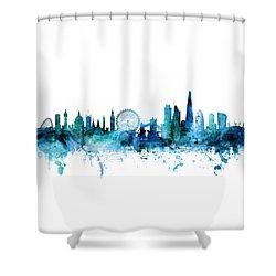 London England Skyline Shower Curtain