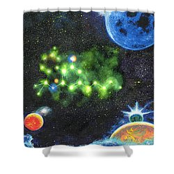 420 Space Shower Curtain by Charles Bickel