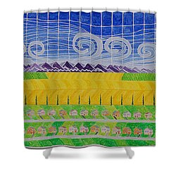 44 Lot Major Subdivision Shower Curtain