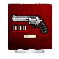 .44 Magnum Colt Anaconda On Red Velvet  Shower Curtain