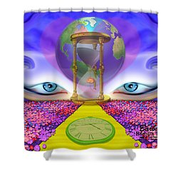 Shower Curtain featuring the digital art 444 Pathway by Barbara Tristan