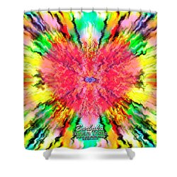 Shower Curtain featuring the mixed media 444 Loves Vibration by Barbara Tristan
