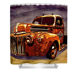 46 Ford Flatbed Redux From The Laboratories At Vivachas Shower Curtain
