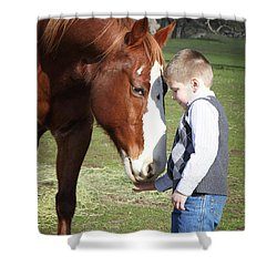 47 Shower Curtain by Diane Bohna