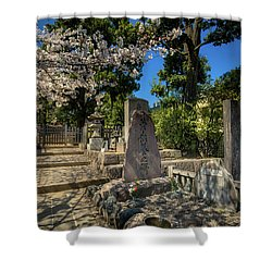 47 Samurai And Cherry Blossoms Shower Curtain