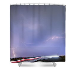 47 Street Lightning Storm Light Trails View Shower Curtain by James BO  Insogna
