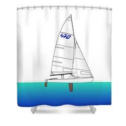 470 Olympic Sailing Shower Curtain