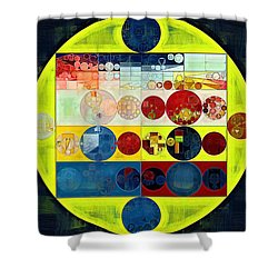 Shower Curtain featuring the digital art Abstract Painting - Dark Jungle Green by Vitaliy Gladkiy