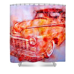 48 Dodge 3 Window Business Coupe Shower Curtain