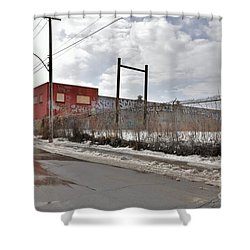 4814 Dunn Street Urban Exploration Shower Curtain by Reb Frost