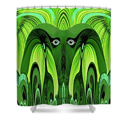 482   Green Ghost Of The Woods V Shower Curtain