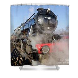 48624 Steam Locomotive Shower Curtain by Steev Stamford