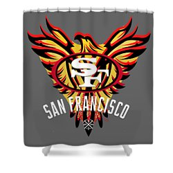 49er Phoenix  Shower Curtain
