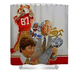 49rs Media Guide Cover 1982 Shower Curtain by Cliff Spohn