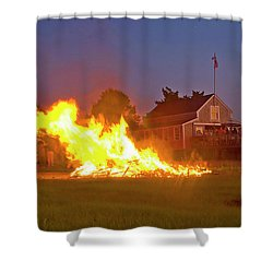 4th Of July 2010 Byc Shower Curtain by Charles Harden