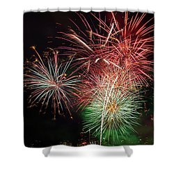 4th Of July Fireworks Display Portland Oregon Shower Curtain by David Gn
