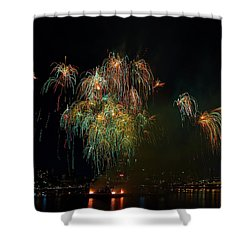 4th Of July Fireworks From The Barge Portland Oregon Shower Curtain by David Gn