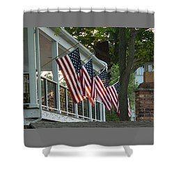 4th Of July Porch Shower Curtain