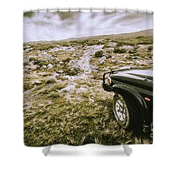 4wd On Offroad Track Shower Curtain