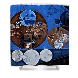 Shower Curtain featuring the digital art Abstract Painting - Ghost by Vitaliy Gladkiy