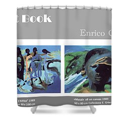 Art Book Shower Curtain