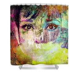 Audrey Hepburn Shower Curtain by Svelby Art