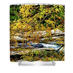 Autumn Middle Fork River Shower Curtain