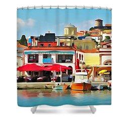 Ayvalik Turkey Shower Curtain