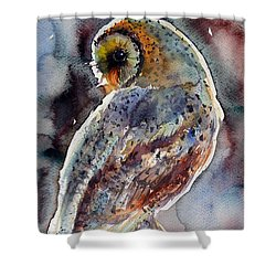 Barn Owl Shower Curtain by Kovacs Anna Brigitta