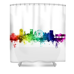 Brighton England Skyline Shower Curtain