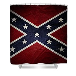 Confederate Flag 8 Shower Curtain
