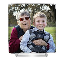 5 Shower Curtain by Diane Bohna
