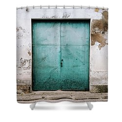 Shower Curtain featuring the photograph Door With No Number by Marco Oliveira