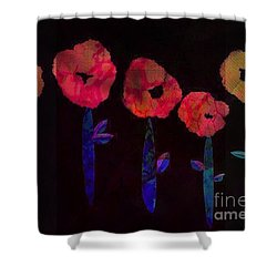 5 Flowers Shower Curtain