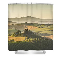 Golden Tuscany Shower Curtain by JR Photography