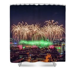 Happy New Year London Shower Curtain