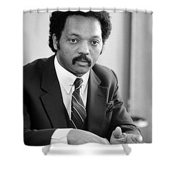 Jesse Jackson (1941- ) Shower Curtain by Granger