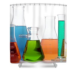 Laboratory Equipment In Science Research Lab Shower Curtain