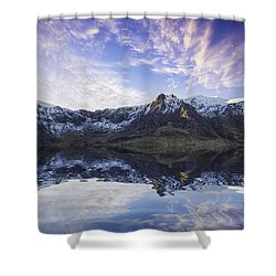 Lake Idwal Shower Curtain