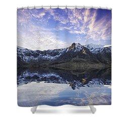 Lake Idwal Shower Curtain by Ian Mitchell