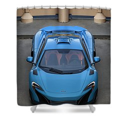 Shower Curtain featuring the photograph #mclaren #675lt #print by ItzKirb Photography