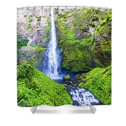 Shower Curtain featuring the photograph Multnomah Falls by Jonny D